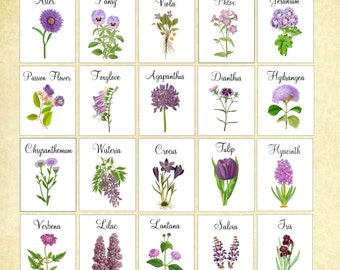 Purple Wedding Table Cards, Table Markers, Table Tents, Wedding Table Cards, Floral Table Cards