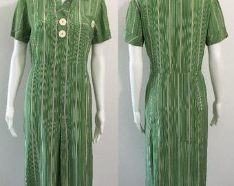 Beautiful 1930's Stripey Day Dress