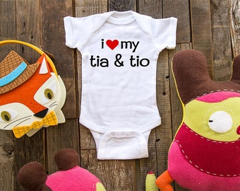 i love my tia and tio - i love my aunt and uncle Infant Baby One-piece, Infant Tee, Toddler, Youth T-Shirts