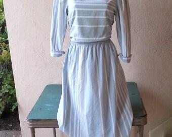T Juniors striped dress vintage 80s
