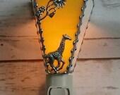 Giraffe Night Light - Stained Glass - Home & Living - Lighting - Stained Glass Night Light - Home Decor - Hand Made