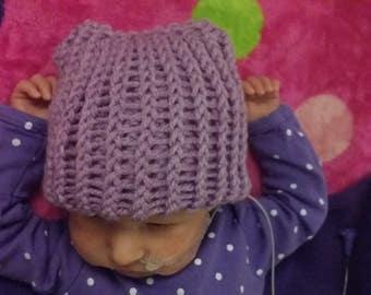Preemie or Newborn Kitty Kat Hat