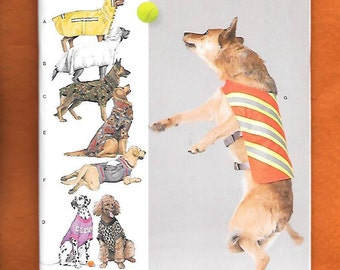 8933db5454d Simplicity Pattern 8277 Fleece Dog Coats and Hats in three sizes ...