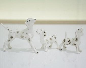 Hagen Renaker Miniature Dalmatian Family
