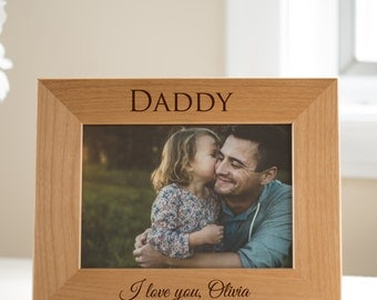 Personalized Father's Day Picture Frame: Engraved Dad Picture Frame, Personalized Gift for Dad, Unique Father's Day Gift, SHIPS FAST