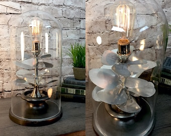 Table Lamp Upcycled Vintage Electric Fan Blades