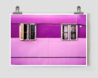 Lilac Trailer Marfa Texas Modern Fine Art Photograph