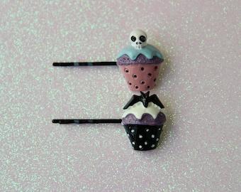 Creepy Cute Cupcakes Hair Pin Set