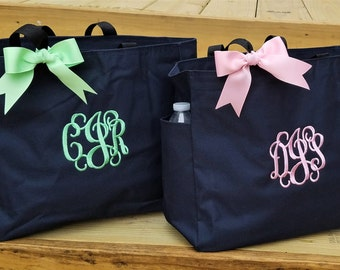 Set of 2 Bridesmaid Bag Bridesmaid Gift Personalized Bridesmaid Tote Bag