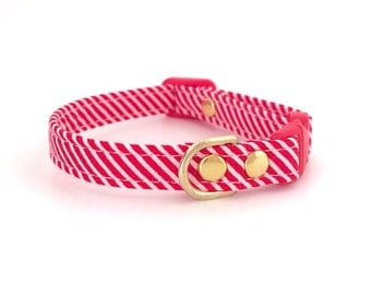 Holiday Sale Christmas Cat Collar - Candy Cane
