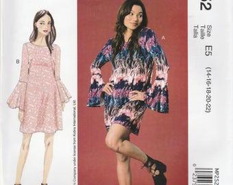 Fun Minidress Dress Pattern McCalls 7505 MP252 Sizes 14 - 22 Uncut