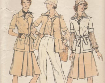 70s Wardrobe Pattern Vogue 8841 Size 10