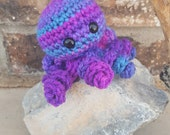 Small Crochet Octopus Amigurumi, Octopus Plushie, Octopus Stuffed Animal, Purple Octopus, Ocean Animal, Crochet Sea Life, Under the Sea