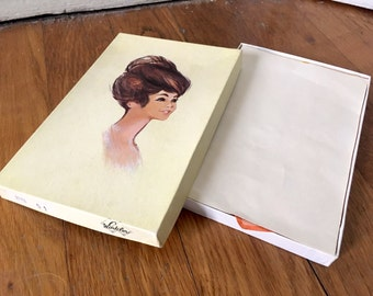 Ladies handkerchiefs. Original box of six French Winkler cotton handkerchiefs