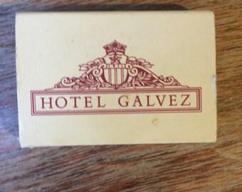 Hotel Galvez Matchbook from Galveston Island, Texas