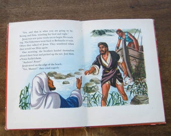 Vintage Children's Christian Book, People Jesus Loved (Stories of Jesus/Bk 5) by Betty Smith; Color Illustrations; U.S. Shipping Included