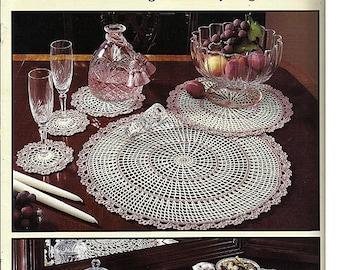 Versatile Doilies / Five Sets / Fifteen Designs in All Thread Crochet Pattern Book Leisure Arts Leaflet 2231