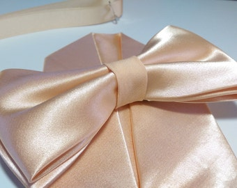 Men ice peach pale peach apricot bow tie