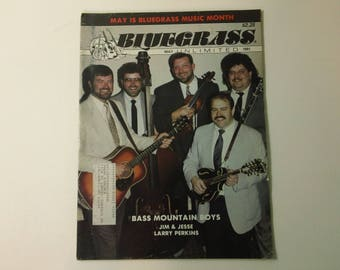Bluegrass Unlimited Vol. 25, No. 11 (May 1991) - Bass Mountain Boys cover ~ vintage 90s Music Magazine back issue