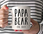 Papa Bear, Grandpa gift, Grandpa mug, New Dad, Gift for Papa, Gift for Dad,Papa Mug, Birth Announcement, Pregnancy Reveal, Personalized Mug