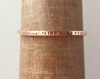 Medical Alert Cuff Bracelet