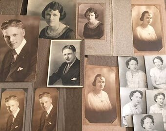 Antique Black and White Photographs - 16 Old Black and White Pictures - Antique Portraits - Antique Black And White Portraits