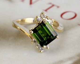 Tourmaline Ring Etsy
