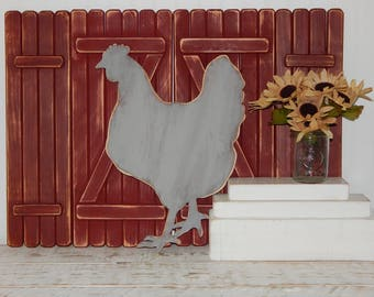 Wooden Chicken Sign Hen Kitchen Decor Sign Chicken Decor Farmhouse Decor Rustic Primitive Country Decor