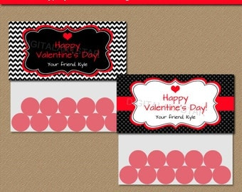 Valentine Bag Toppers - Printable Valentines Day Bag Toppers - EDITABLE Valentine Bag Labels Instant Download - Valentine Party Favors V1
