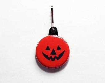 Halloween Zipper pull, Jackolantern Zipper Pull, Pumpkin, backpack zipper pull, gift for child, Halloween charm, Trick or treat  (7648)