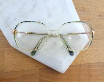 Women's Vintage Eyeglasses Frames, Matisse Mod 5370/E,  Vintage Glasses, Oversized Frames, Secretary / Librarian Glasses, Patterned Glasses