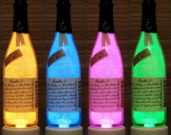 Bookers  Kentucky Straight Bourbon Whiskey Color Changing RGB LED Remote Controlled Bottle Lamp Bar Light