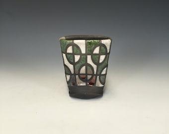Magnetic Raku Vase - Altered Perspective - Handmade Pottery - Home Decor