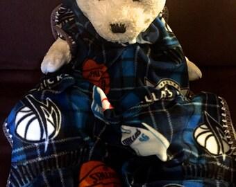 Dallas Mavericks Plaid Basketball Fleece Sports Baby Blanket