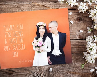 Wedding Thank You Cards Custom Text Box