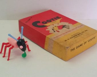 Vintage 1945 Cootie Game, Complete -- Schaper Mfg. Co., Midcentury Game, for Family Game Night, Collector, Gift, Display