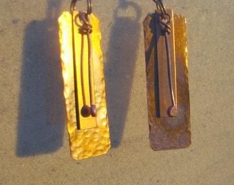 Hammered Copper Medley Earrings