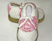 Pink Baby Saddle Shoe Slippers