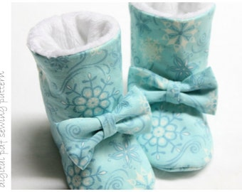 Baby Boots Pattern - Winter Boots - Sizes 1 to 5