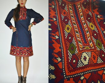 1960s / 1970s Bulgarian Hand Embroidered Folk Dress