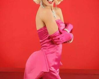 Monroe Pink Custom Dress Made to Order
