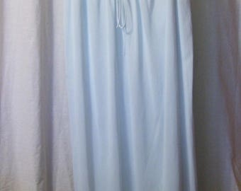 Vanity Fair, Night Gown, Long, Blue Antron Nylon, Size Small, Bridal Honeymoon, Hospital Maternity,