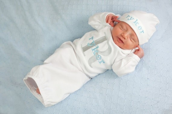 > Newborn Baby Clothes > Home From Hospital Outfits. Home From Hospital Outfits There are 61 products. View: Grid; This the perfect baby boy home from the hospital outfit, shower gift, or to wear for everyday cuteness! Available in SHORT or LONG sleeves. $ Customize. In Stock. .