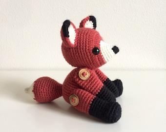 Fletcher the Fox (Twee Toys Collectible Series) - Amigurumi Crochet Doll Pattern Woodland Stuffed Animal Toy Gift Children Baby Nursery