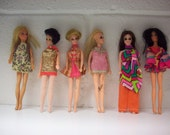 1970 DAWN DOLLS Lot of 6 Topper Fashion Models Mattel Rock Flowers Singing Group