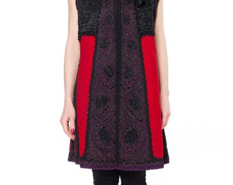 Residency- Victorian Beaded and Embroidered Mantle Coat Vest Size: 8