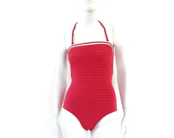 Vintage Swimsuit by Cole of California Pink Maillot 1 pc Bathing Suit Vintage Swimwear NOS Dead Stock sz 10 #78