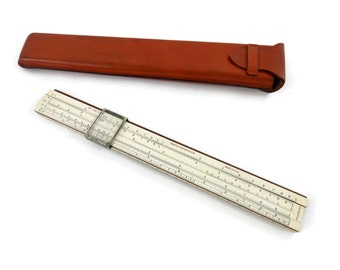 Keuffel & Essel Co Slide Rule and Leather Case  from the 1930s Female Chemical Engineering Student from Rutgers