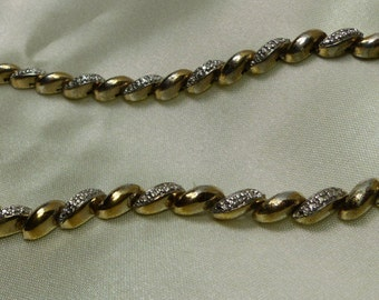 "Sterling Link Necklace Gold Over 29 grms (almost 1 oz) -16"" long-5mm wide 1674"