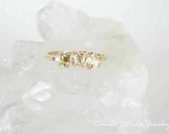 Engagement Ring, Diamond Engagement Ring, Multistone Ring, Rose Gold Engagement Ring, Promise Ring, Promise Ring, Diamond Ring